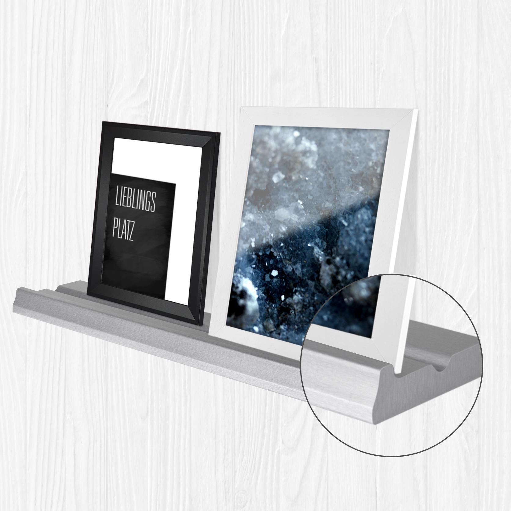 bilderleiste bord f r bilderrahmen dekoartikel schwarz