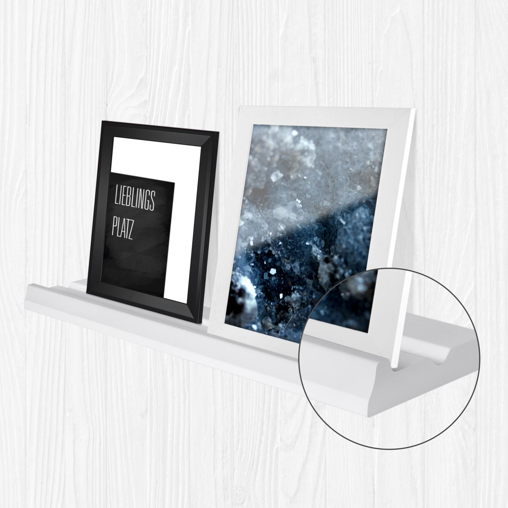 bilderleiste bord f r bilderrahmen dekoartikel schwarz. Black Bedroom Furniture Sets. Home Design Ideas