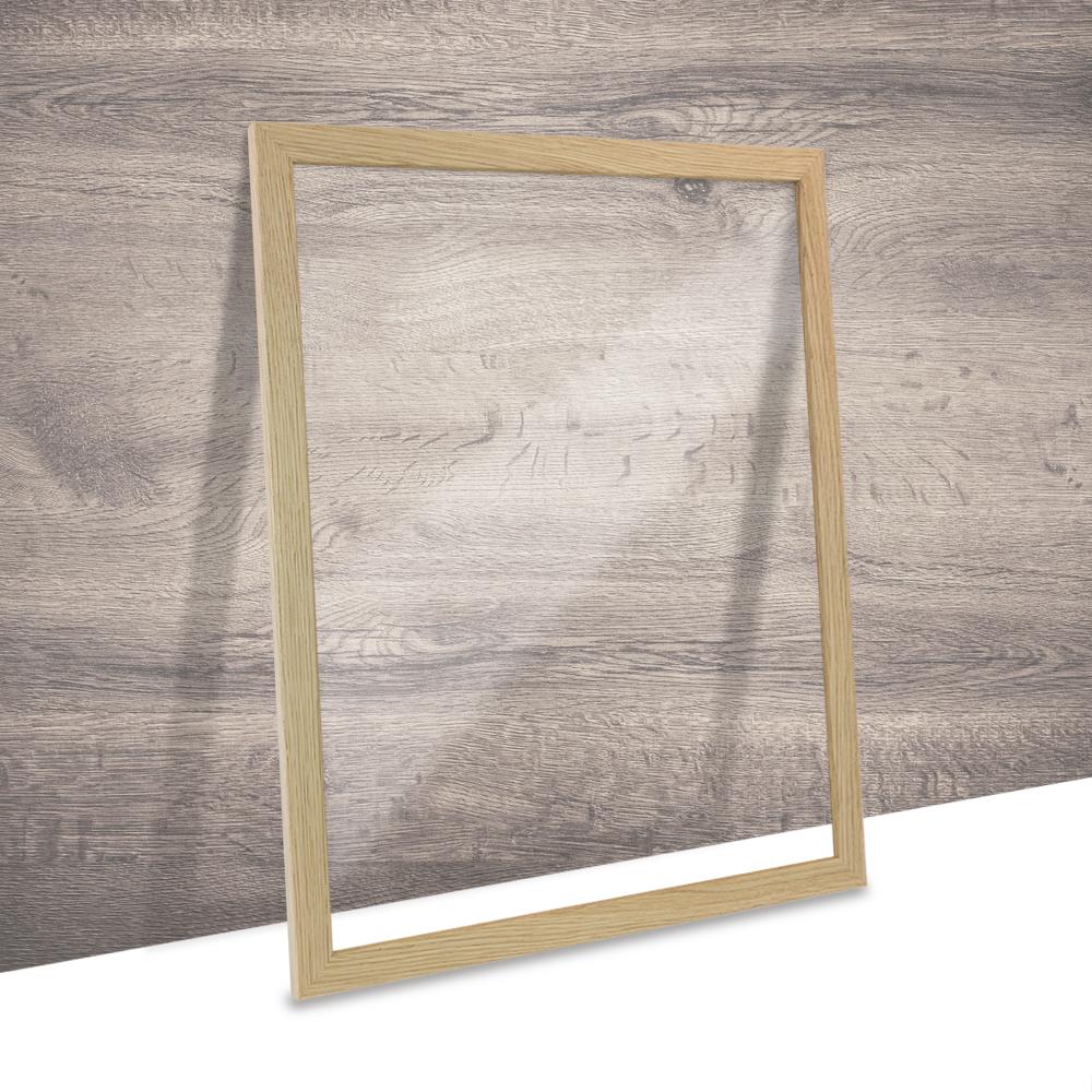 Doppelglas Doppelverglasung Holz Rahmen Bilderrahmen in Eiche Natur ...
