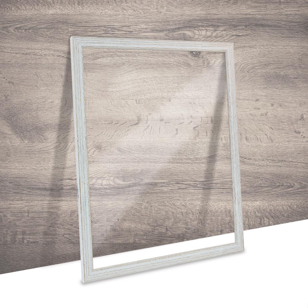 Doppelglas Bilderrahmen CLARA Landhaus Shabby Chic Eiche Holz mit 2x ...