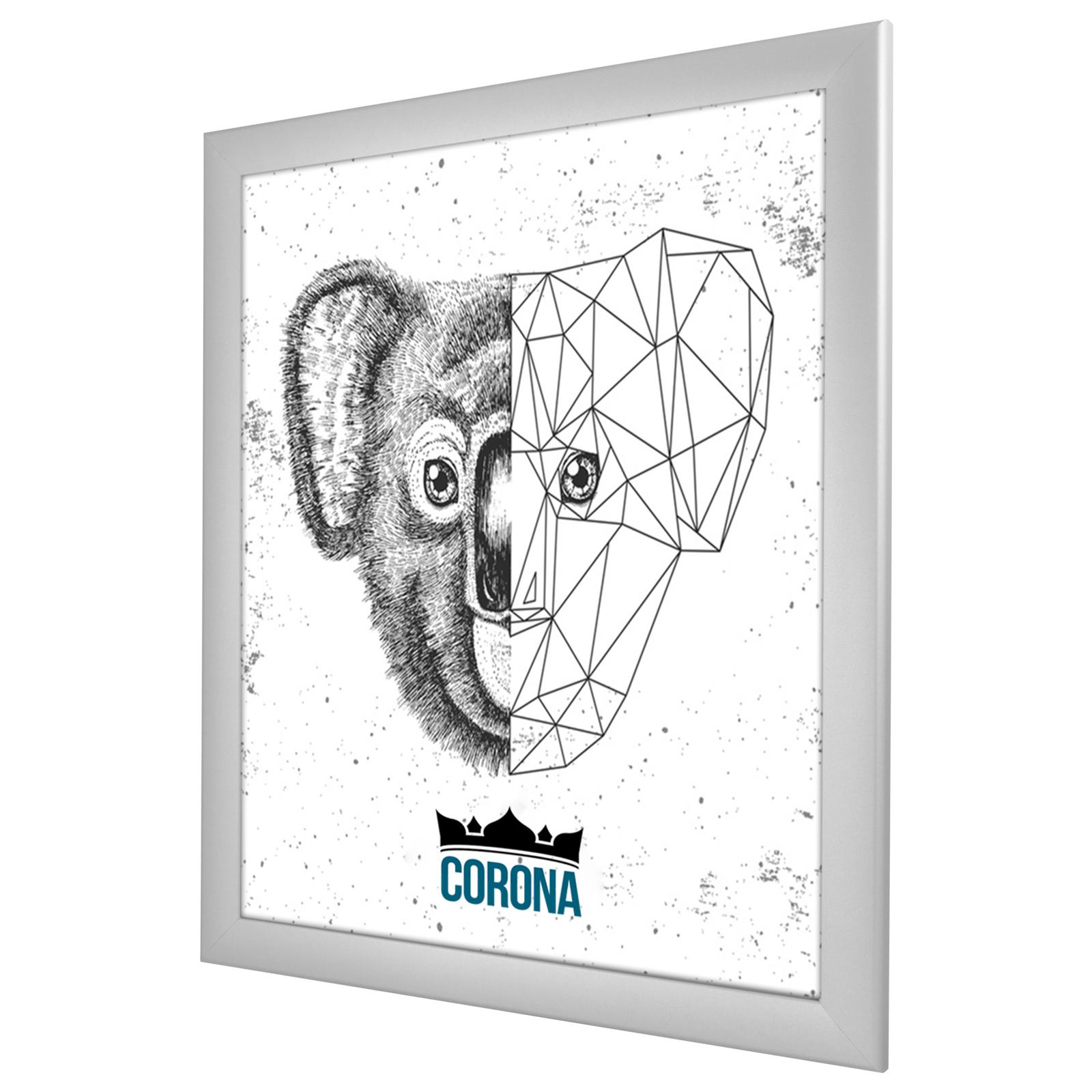 Bilderrahmen CORONA in 25 Farben 70x90 90x70 modern Wechselrahmen NEU Poster