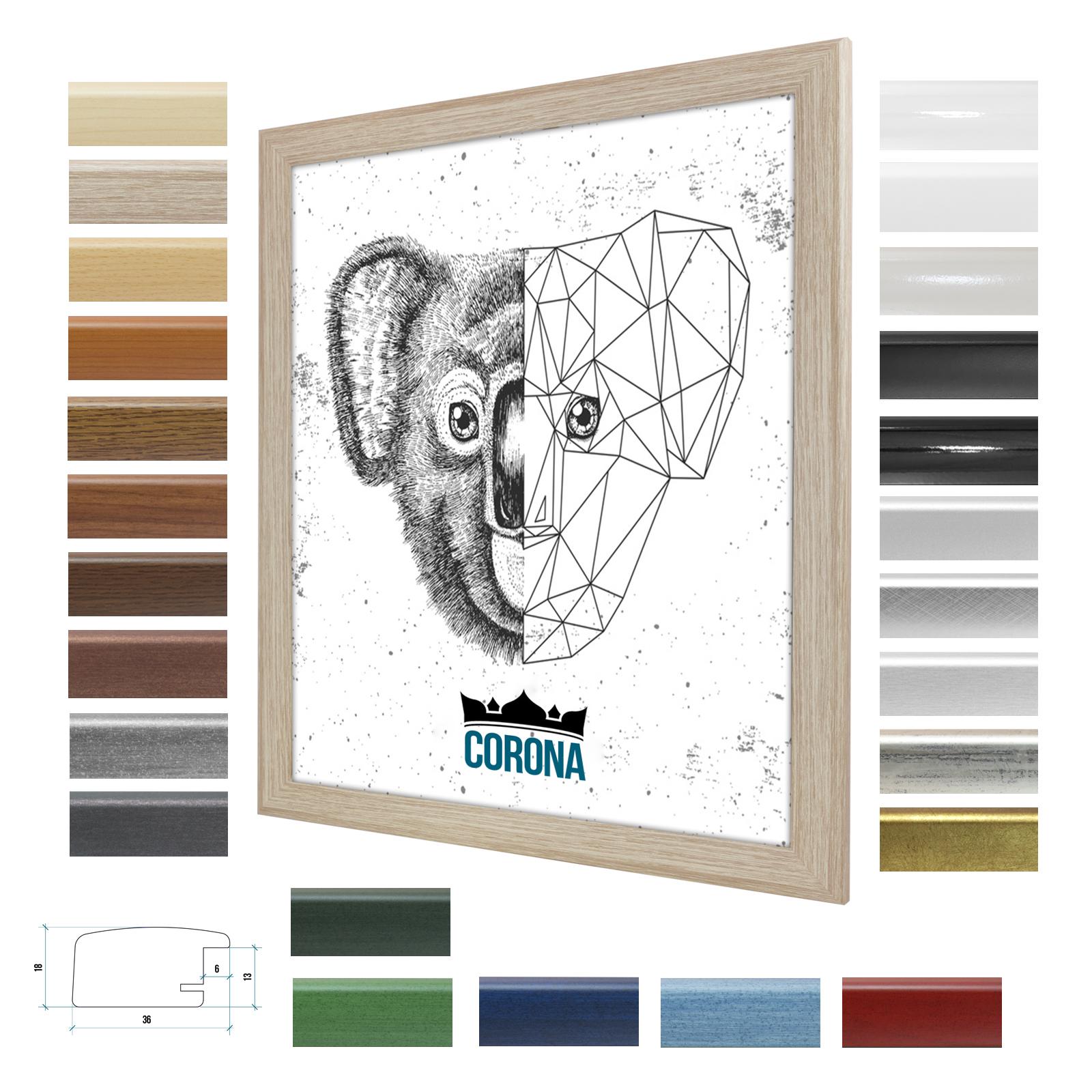 Bilderrahmen CGoldNA in 25 Farben 60x80 80x60 modern Wechselrahmen NEU NEU NEU Poster | Produktqualität  3eb391