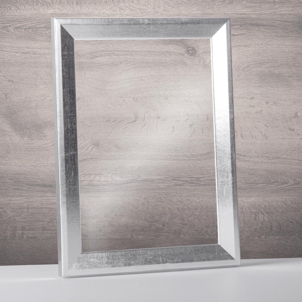 Bilderrahmen Rahmen Silberglanz Vintage Doppelglas Acrylglas ohne ...