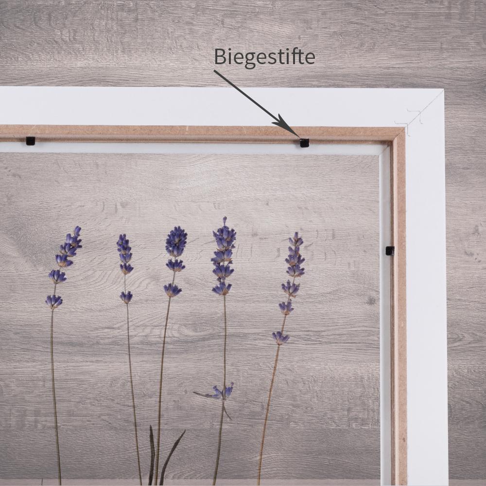 bilderrahmen ohne r ckwand mit zwei acrylgl sern f r. Black Bedroom Furniture Sets. Home Design Ideas