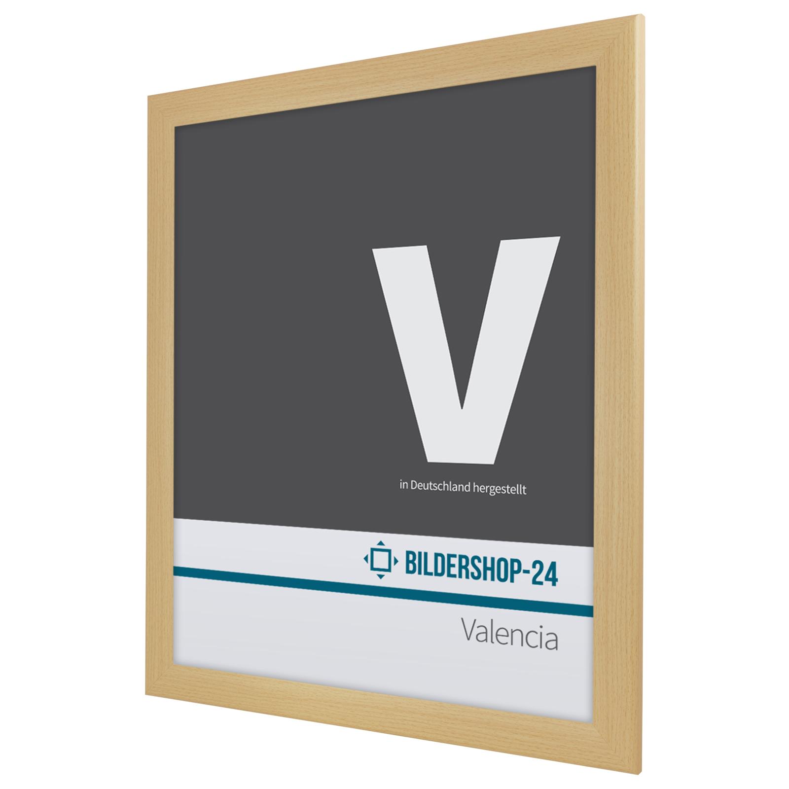 Bilderrahmen Valencia in 25 Farben 45x60 60x45 Schwarz Weiß Silber ...