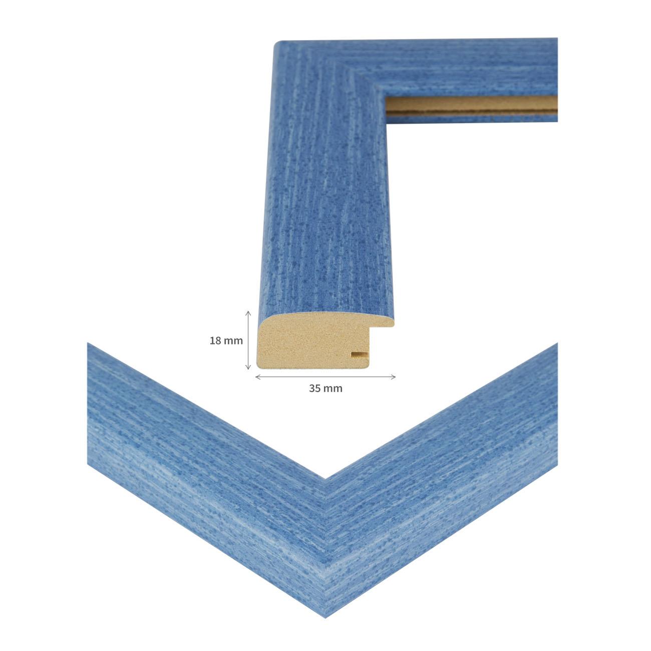 bilderrahmen valencia rahmen rot blau gr n 45x90 50x80. Black Bedroom Furniture Sets. Home Design Ideas