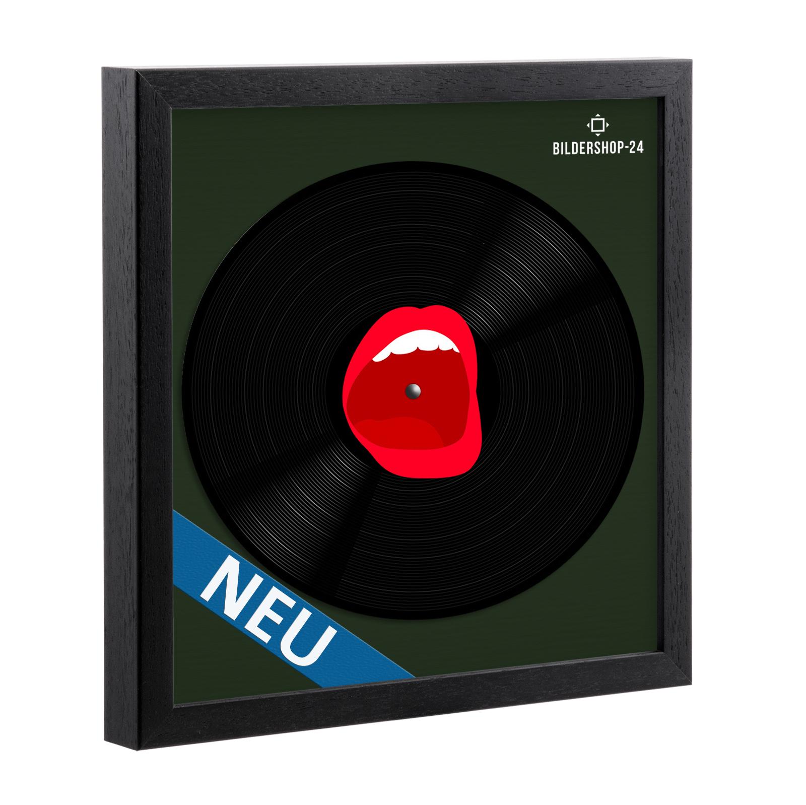 Schallplattenrahmen Rahmen für Vinyl Schallplatte in Schwarz NEU ...