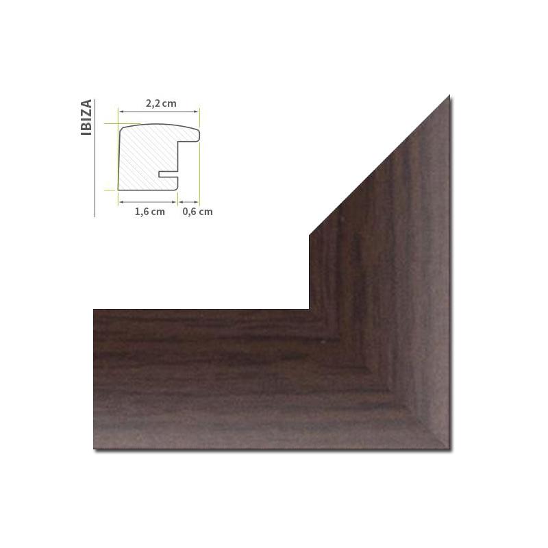 bilderrahmen schmale d nne leiste mit 22mm und 4 farben schwarz wei braun alu ebay. Black Bedroom Furniture Sets. Home Design Ideas