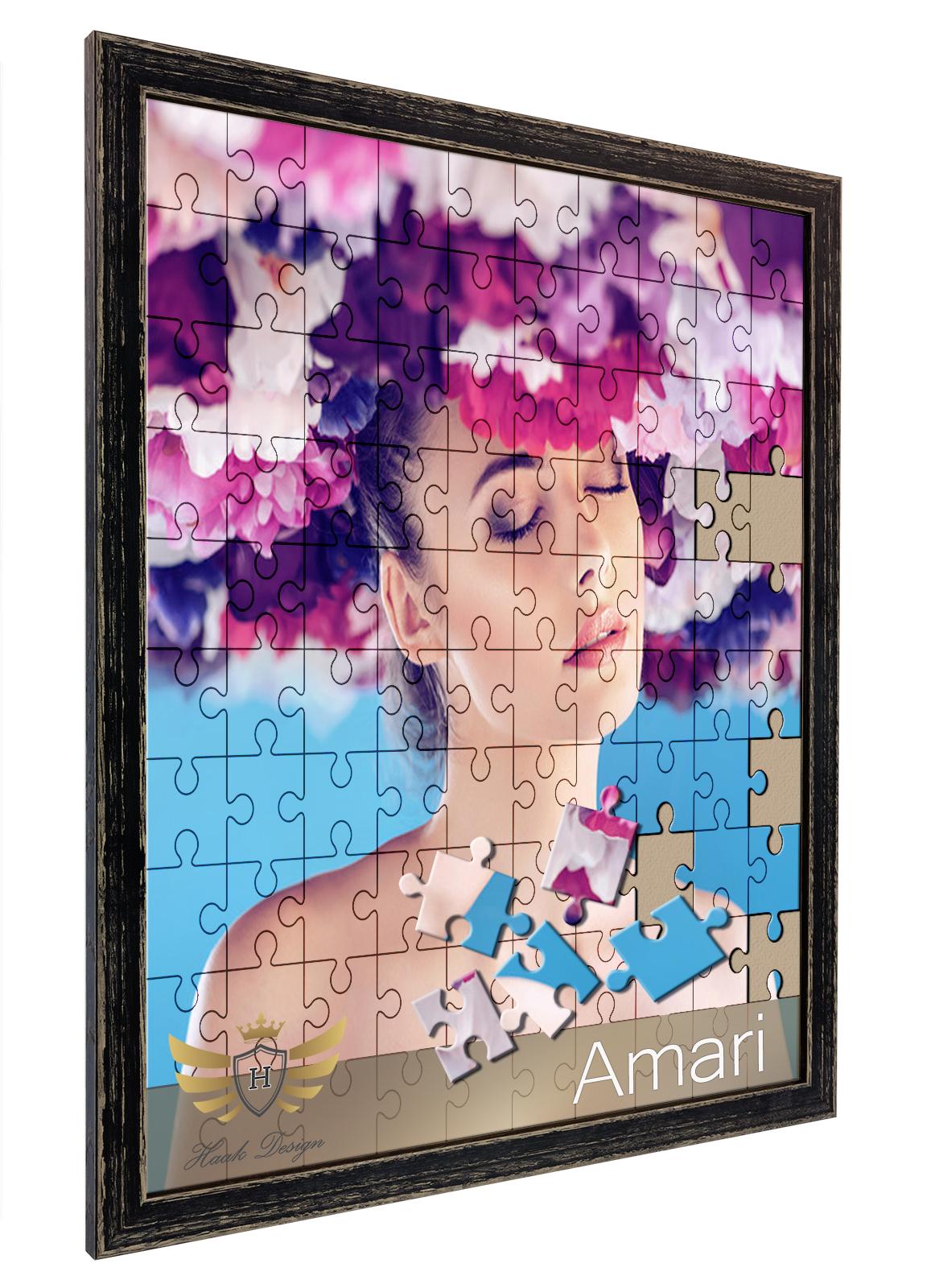 Bilderrahmen für Puzzle AMARI 36x49 49x36 6 Farben Massivholz Eiche ...