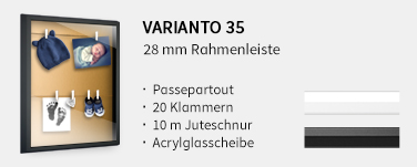 Rahmenleiste Varianto35 (25 mm)