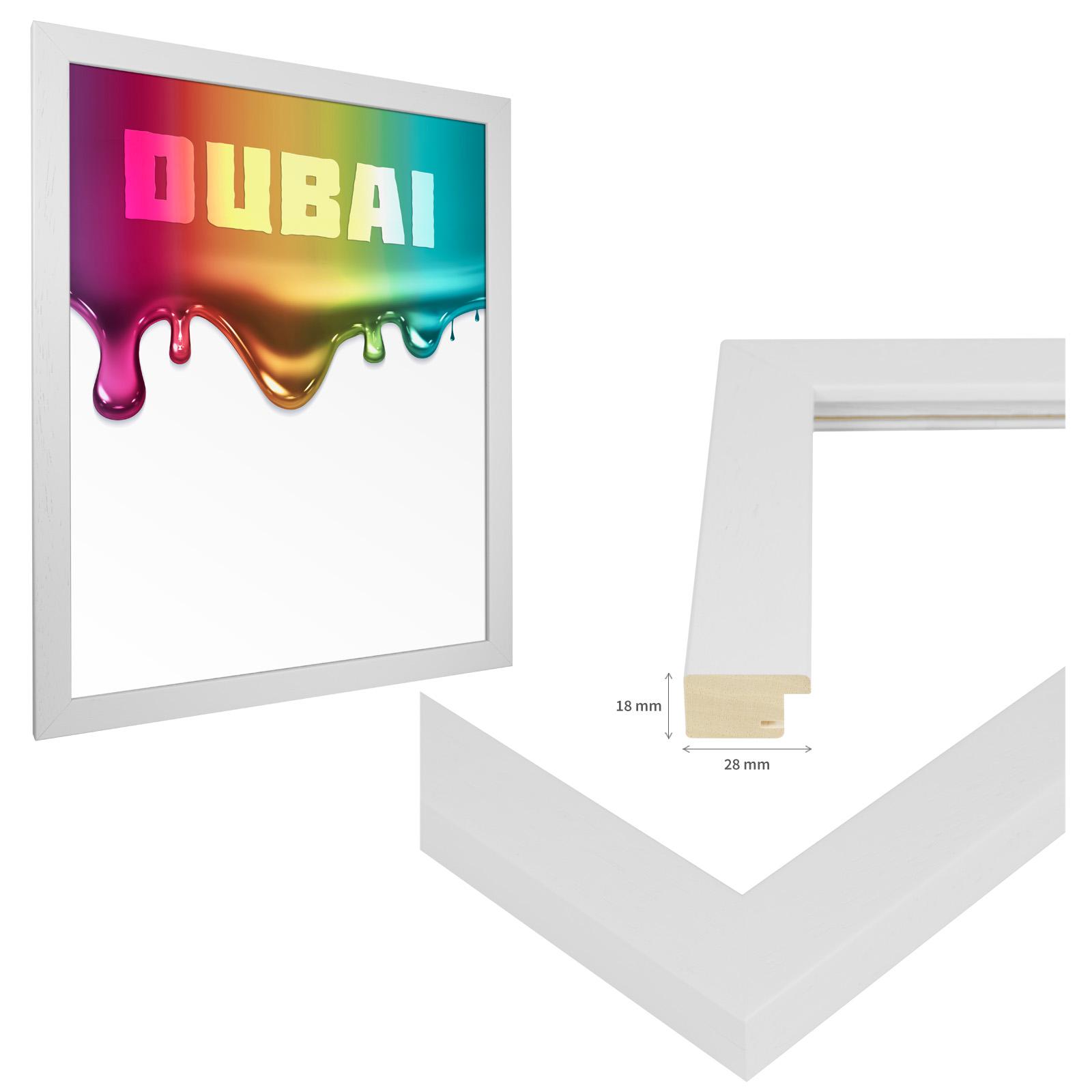 bilderrahmen massiv echt holz lackiert din a2 42 x 59 4 cm 6 farben foto poster ebay. Black Bedroom Furniture Sets. Home Design Ideas