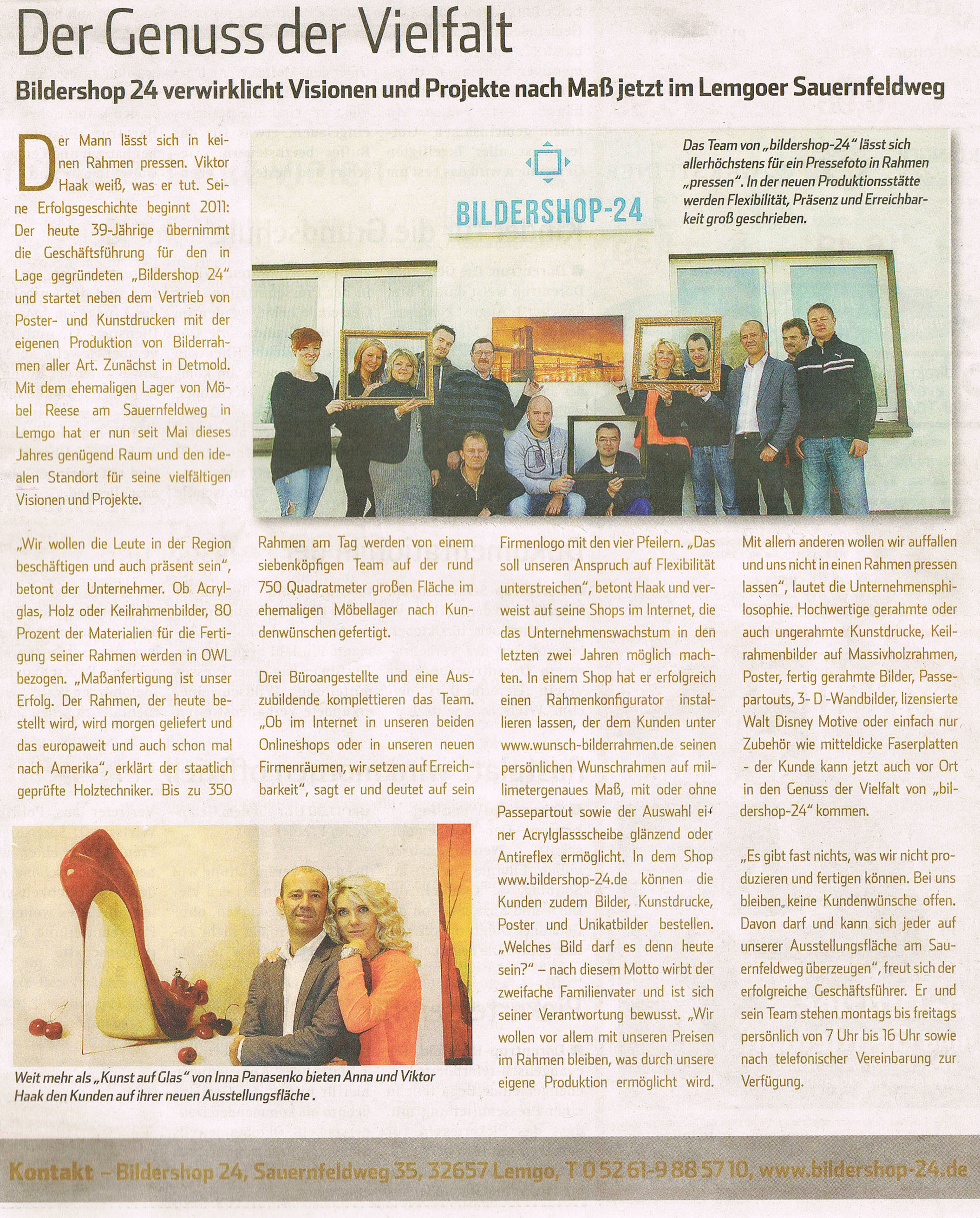 Zeitungsartikel LZ vom 05.10.2013