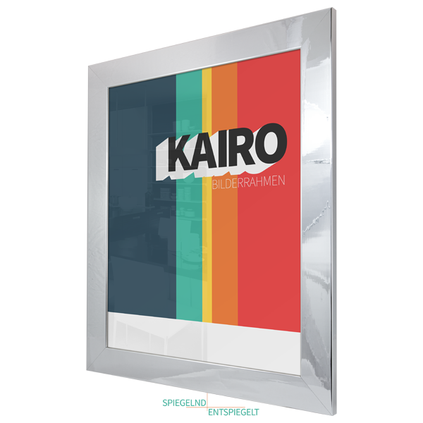 bilderrahmen kairo 20x50 in schwarz weiss silber chrom poster foto holz rahmen ebay. Black Bedroom Furniture Sets. Home Design Ideas