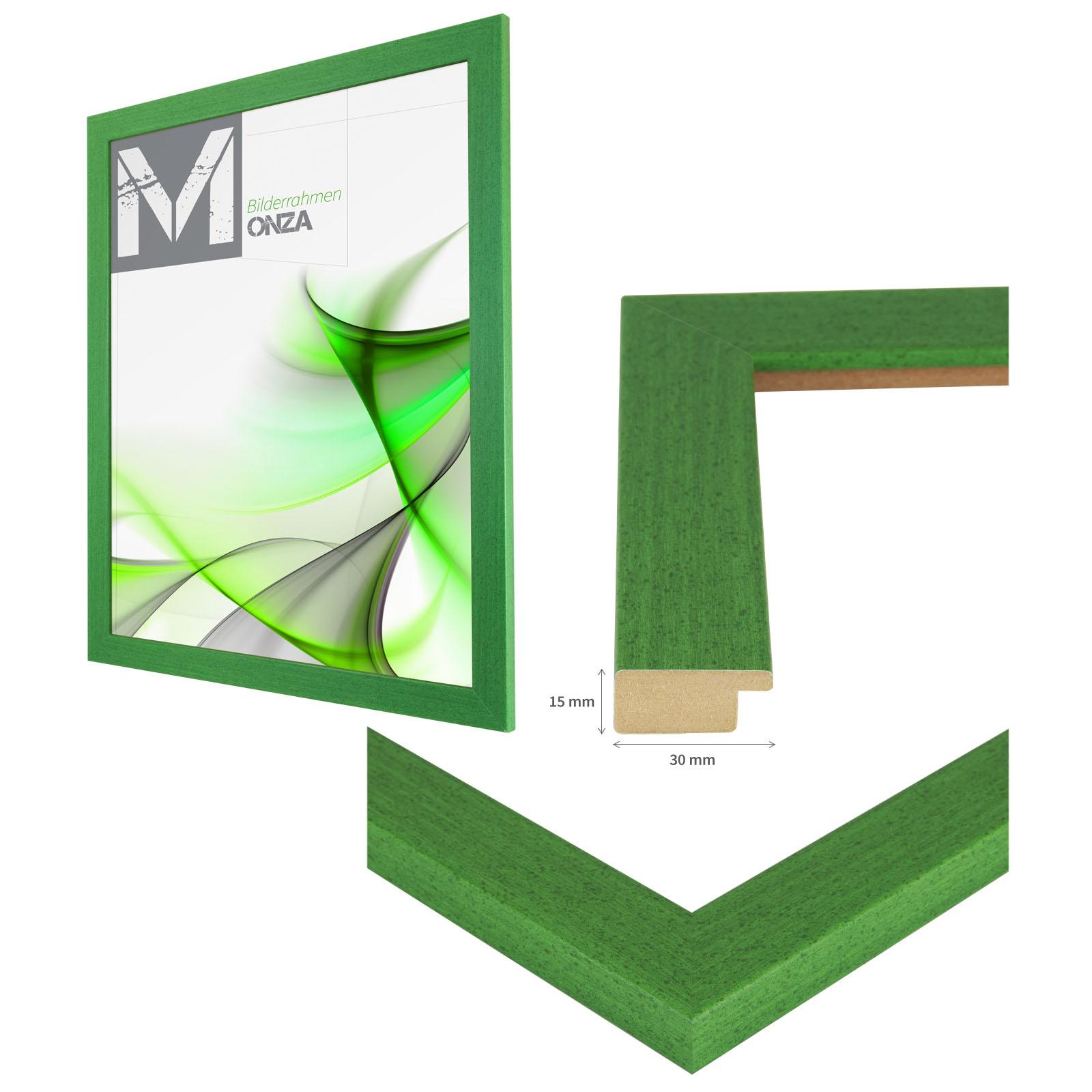 bilderrahmen monza gr n 54 gr en holz mdf profil foto poster rahmen ebay. Black Bedroom Furniture Sets. Home Design Ideas