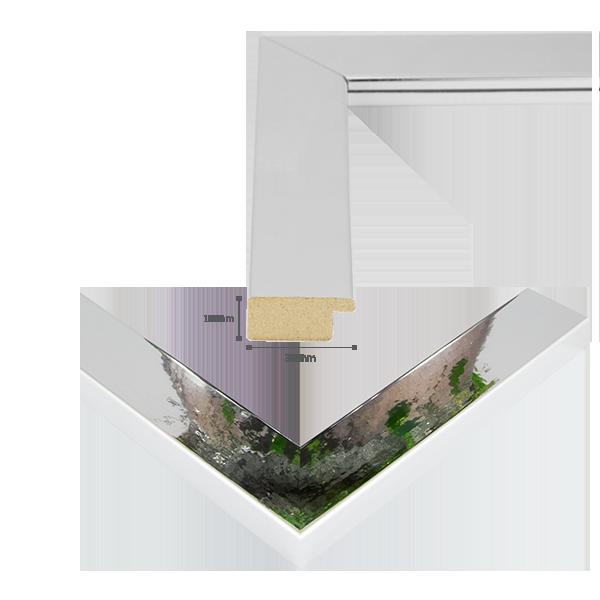 bilderrahmen monza silber hochglanz poliert metall chrom dekor poster rahmen ebay. Black Bedroom Furniture Sets. Home Design Ideas