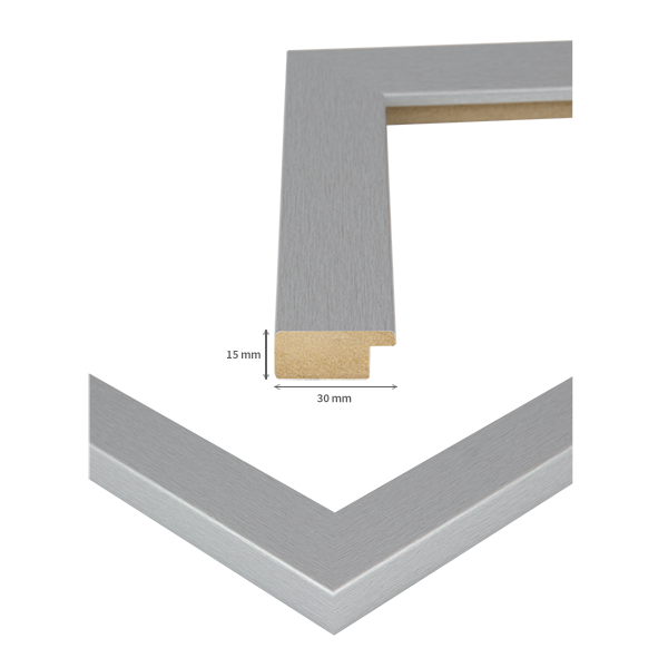 bilderrahmen monza alu geschliffen 54 gr en holz profil foto poster rahmen ebay. Black Bedroom Furniture Sets. Home Design Ideas