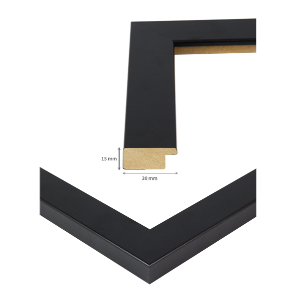 bilderrahmen monza in schwarz wei silber 40 gr en holz mdf foto poster rahmen ebay. Black Bedroom Furniture Sets. Home Design Ideas