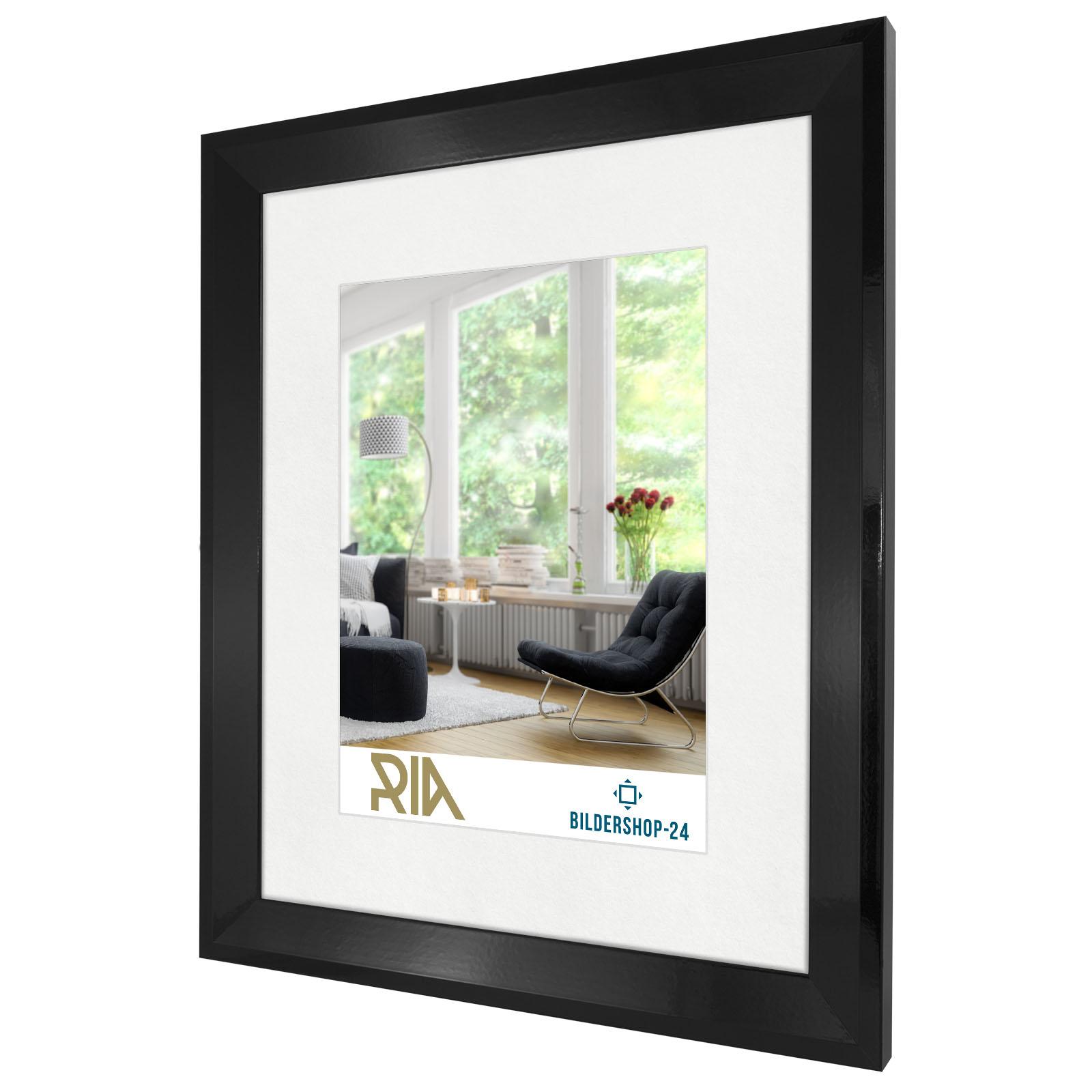 bilderrahmen ria schwarz wei silber grau beton poster wechsel galerie rahmen ebay. Black Bedroom Furniture Sets. Home Design Ideas